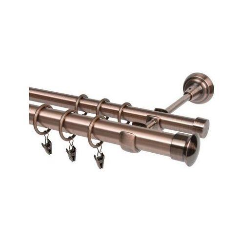 Karnisz DUO 160 cm podwójny miedź 25/19 mm metalowy (5907800305227)