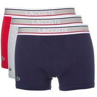 Lacoste 3-pack bokserki niebieski czerwony szary l