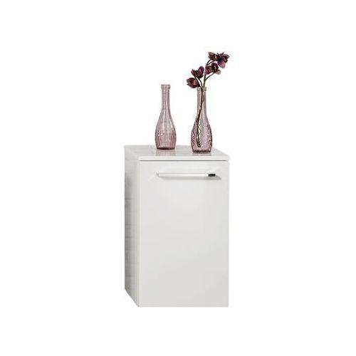 Szafka łazienkowa wisząca dolna biała 59 cm rondo - biały wysoki połysk \ 59 cm marki Fackelmann