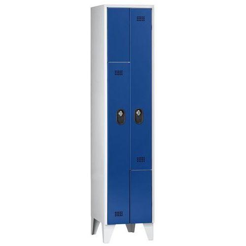 Szafa na garderobę do przebieralni, wysokość przegrody 820 mm, wys. x szer. x gł
