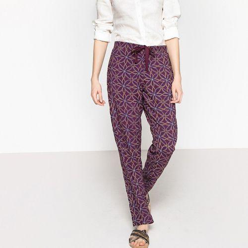 Lejące spodnie od piżamy, sznurek do wiązania marki La redoute collections