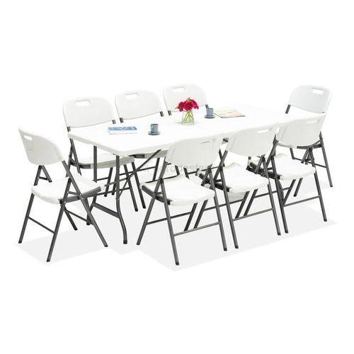 Zestaw stół cateringowy składany 180 cm + 8 krzeseł - transport gratis! marki Garden point