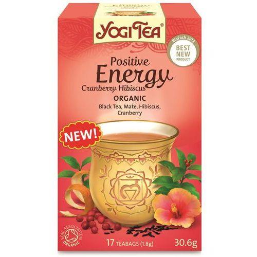 Herbata Pozytywne Energia Żurawina i Hibiskus BIO (Yogi Tea) 17 saszetek po 1,8g (owocowa herbata)