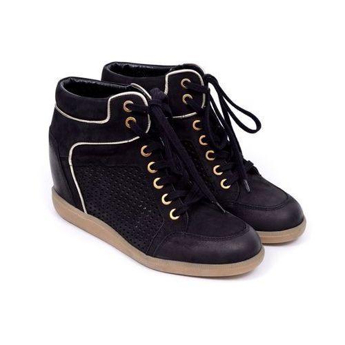 Sneakersy damskie  b3349-360 samuel 04/złoto 40 czarny, marki Carinii