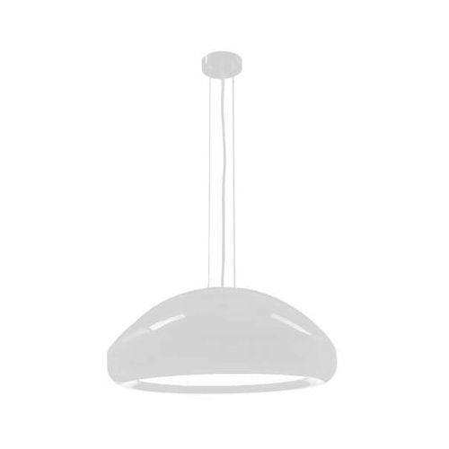 Lampa wisząca naka 5581/e27/bi okrągła oprawa kopuła zwis metalowy biały marki Shilo