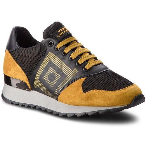 Sneakersy VERSACE COLLECTION - V900728 VM00427 VA21C Giallo Scuro/Nero/Kaki, kolor żółty