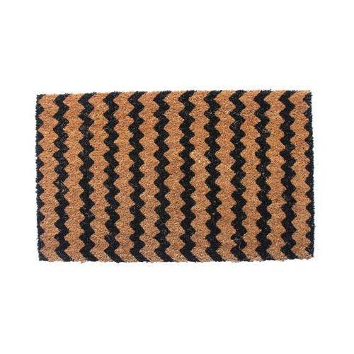 Colours Wycieraczka zigzag 45 x 75 cm czarny