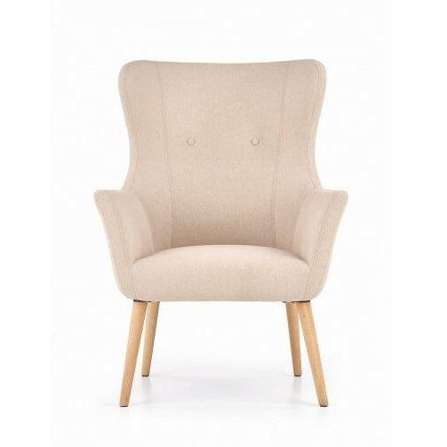 Fotel tapicerowany COTTO beżowy, kolor beżowy