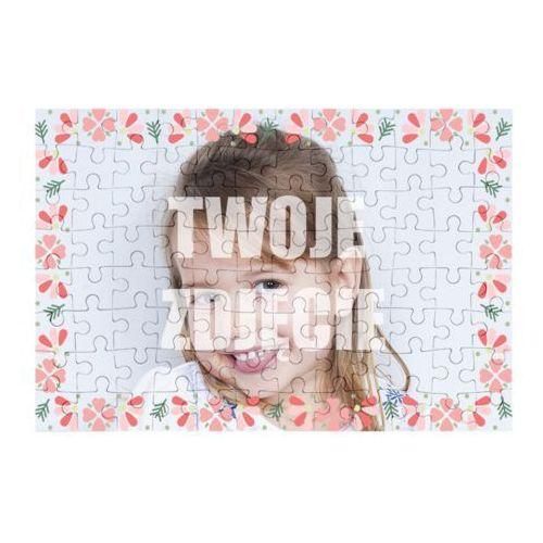 Megakoszulki Puzzle kwiaty 2 + twoje zdjęcie