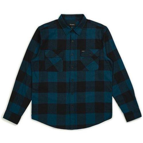 koszula BRIXTON - Bowery Lw L/S Flannel Black/Teal (BLKTL) rozmiar: L, kolor czarny