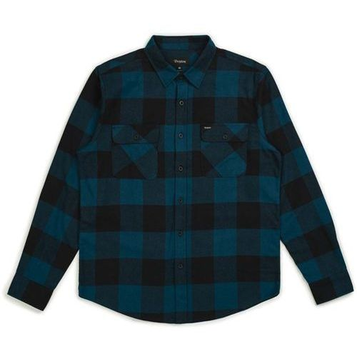 koszula BRIXTON - Bowery Lw L/S Flannel Black/Teal (BLKTL) rozmiar: M