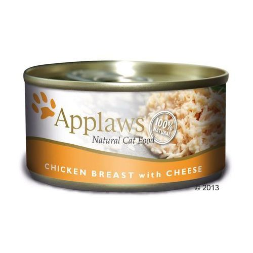 Applaws karma dla kota, 6 x 70 g - Filet z tuńczyka z serem (5060122492119)