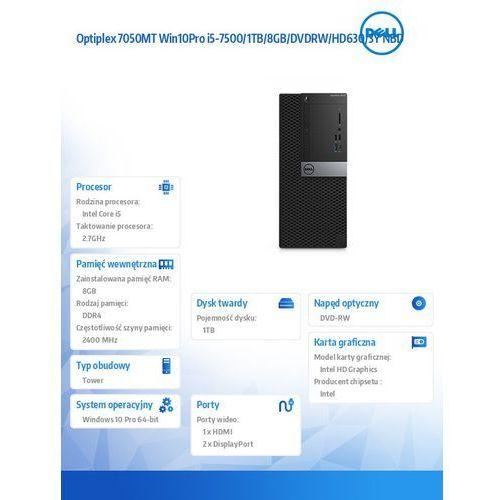 Optiplex 7050MT Win10Pro i5-7500/1TB/8GB/DVDRW/HD630/3Y NBD (5902002031851)