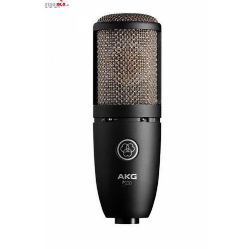 Akg p220 - mikrofon pojemnościowy wokalny, studyjny