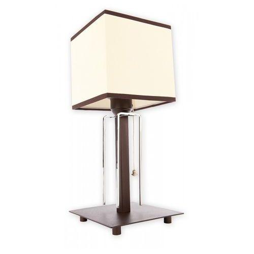 Lemir Zenit lampka stołowa 1 pł. / chrom + rdza wenge, dodaj produkt do koszyka i uzyskaj rabat -10% taniej!