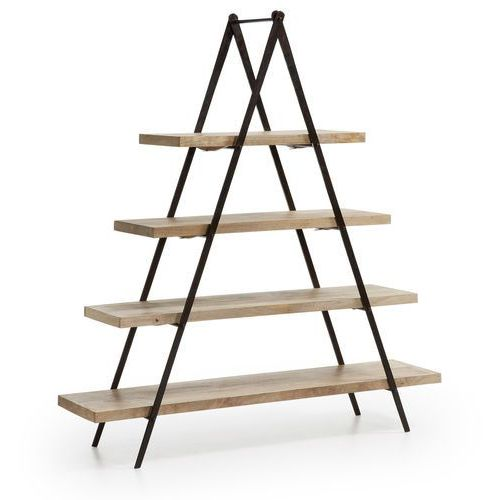 :: półka na książki nagrom metalowa - naturalne drewno marki Laforma
