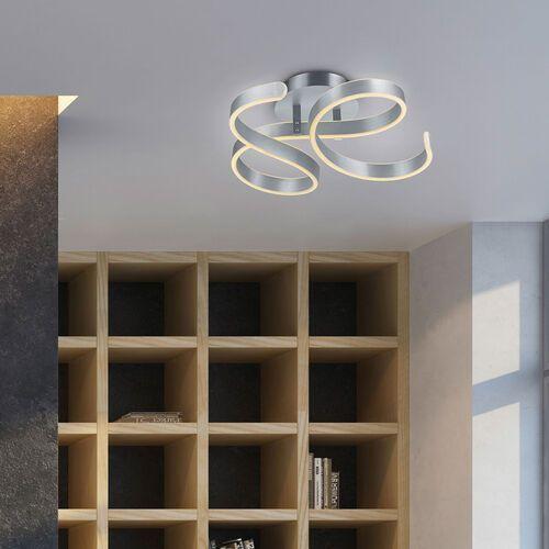 Trio francis 671310105 plafon lampa sufitowa 1x42w led 3000k szczotkowane aluminium