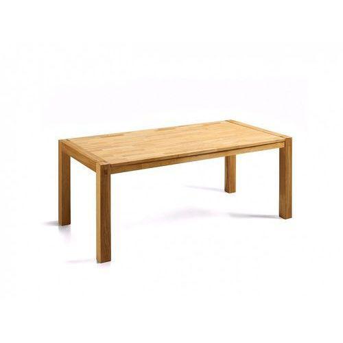 Stylowy stół dębowy kuchnia salon jadalnia 180 cm jasny brąz - natura marki Beliani