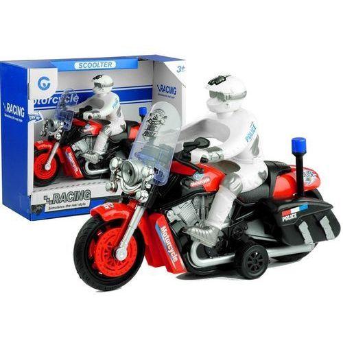 Import leantoys Motocykl policyjny ścigacz ruchome koła gra świeci