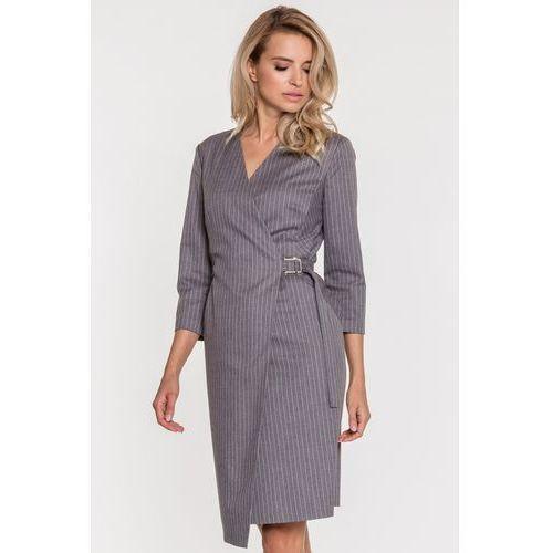 Kopertowa sukienka w prążki - Vito Vergelis, kopertowa