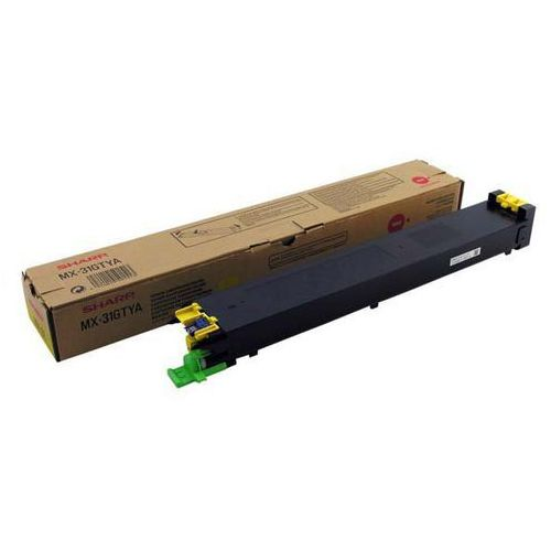 Sharp oryginalny toner MX-31GTYA, yellow, 15000s, Sharp MX 2301N, 2600N, 3100N, 4100N, 4101N, 5000N, 5001N (4974019591513)