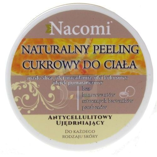 Peeling do ciała cukrowy - z olejem macadamia pomarańczowy, 100 ml - NACOMI (5901878686516)