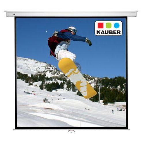 Kauber Ekran ścienny - econo wall 200x200 cm (194x194) - matt white