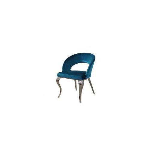 Bellacasa Krzesło glamour anatole dark blue - nowoczesne krzesło tapicerowane