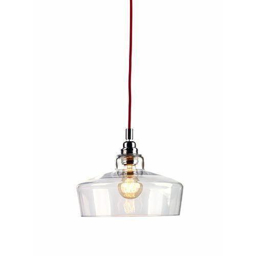 LAMPA wisząca LONGIS III 10143109 Kaspa szklana OPRAWA minimalistyczny ZWIS przezroczysty czerwony, kolor Przezroczysty