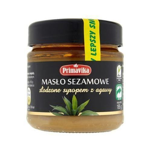PRIMAVIKA 185g Masło sezamowe słodzone syropem z agawy