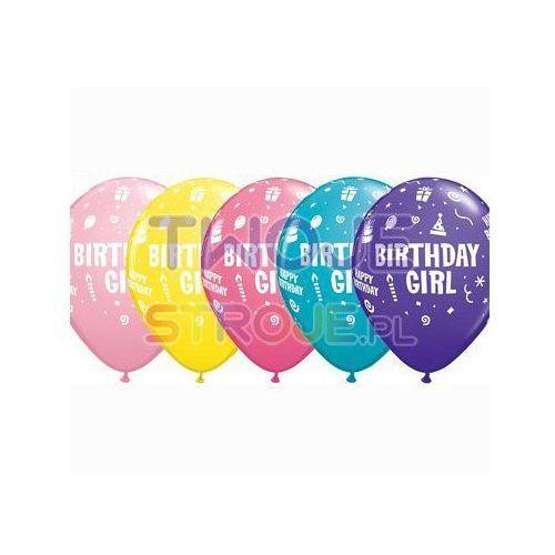 BALON LATEKSOWY HAPPY BIRTHDAY GIRL 27 cm 1 szt., #A642^d