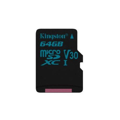 Karta pamięci canvas go! microsdxc 64gb uhs-i u3 (90r/45w) (sdcg2/64gbsp) marki Kingston