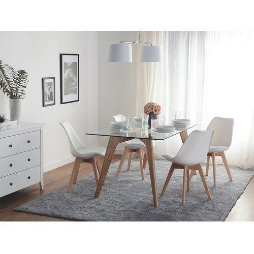 Zestaw do jadalni 2 krzesła białe DAKOTA II, kolor biały