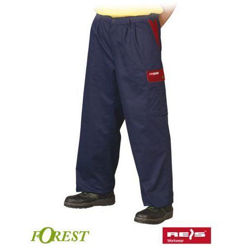 Granatowo-czerwone spodnie robocze do pasa forest marki R.e.i.s.