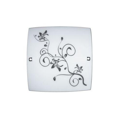 Rabalux Plafon lampa sufitowa blossom 1x60w e27 biały czarny/chrom 3892