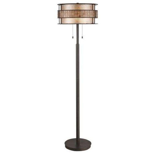 Lampa podłogowa qz/laguna/fl/a elstead stojąca oprawa w stylu orientalnym mozaika ciemny brąz beżowy marki Quoizel