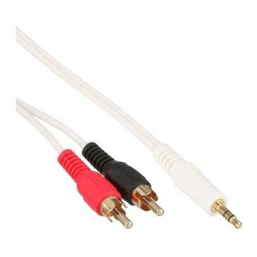 InLine kabel Stereo 1x wtyczka Jack 3.5mm / 2x wtyczka Cinch - 2,0 m z kategorii Kable video