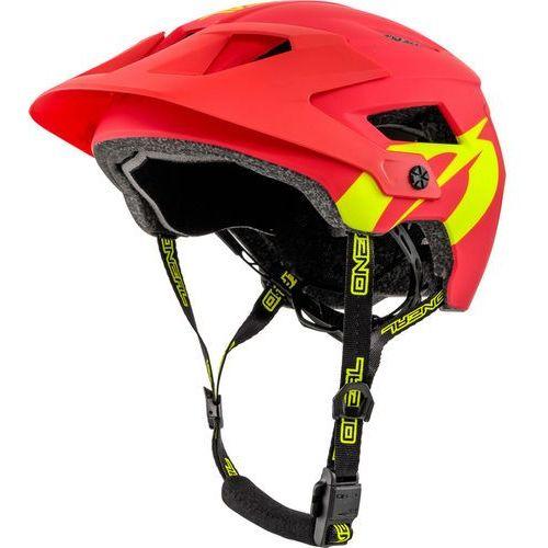 defender 2.0 kask rowerowy żółty/czerwony s/m | 54-58cm 2018 kaski rowerowe marki Oneal