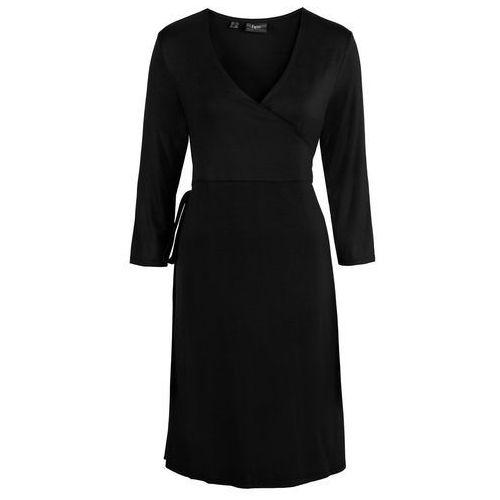 Sukienka ciążowa shirtowa, kopertowa bonprix czarny