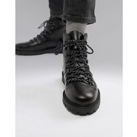 leather hiker boots - black, Selected homme