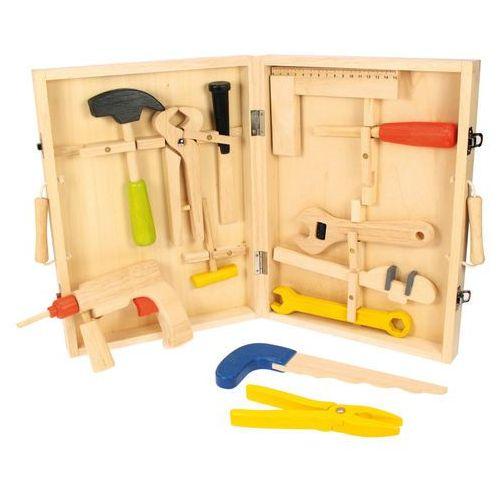 drewniane narzędzia w walizce marki Bigjigs toys