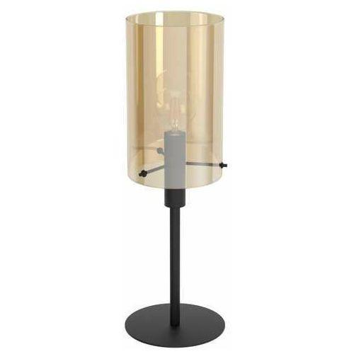 polverara 39541 lampa stołowa lampka 1x40w e27 czarna/bursztynowa marki Eglo