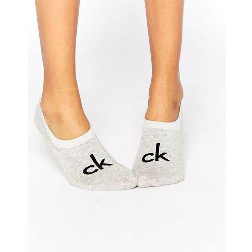 Calvin klein retro logo liner socks - grey