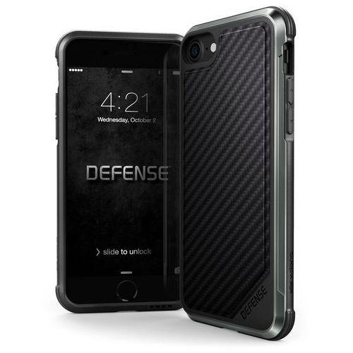 X-Doria Defense Lux - Aluminiowe etui iPhone 8 / iPhone 7 (Black Carbon Fiber), 460552