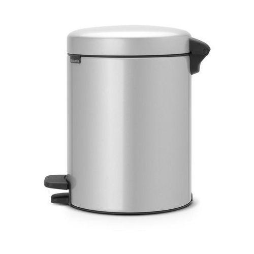 Kosz na śmieci pedałowy NewIcon 5l metaliczny szary, 112904