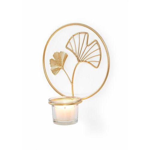 Świecznik ścienny Liście ginkgo bonprix złoty kolor