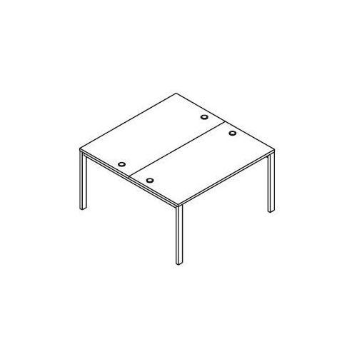 Układ biurek (2 stanowiska) bsa23 wymiary: 137x140x75,8 cm marki Svenbox
