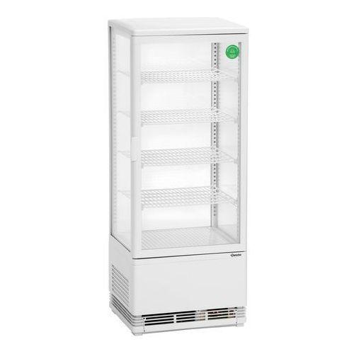 Bartscher Witryna chłodnicza mini z oświetleniem - w zestawie 4 wkładane półki - 98 l (4015613635118)