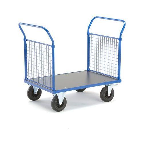 Wózek platformowy, 2 ramy końcowe z siatki, 1165x700 mm, z hamulcami marki Aj produkty