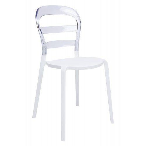 Kh Krzesło carmen transparentne / czerwone - oparcie poliwęglan